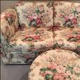 Custom Couch, Love Seat & Hassock