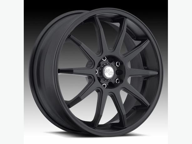 "NEW Original 18""Niche Racing M-122 Black rims (5x108 / 5x114)"