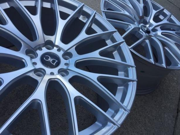 "NEW 19""ADV One 10.0 staggered reps (5x114)- Silver + Machined"