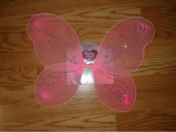 Brand New Fairy Butterfly Pink Costume Wings - $4