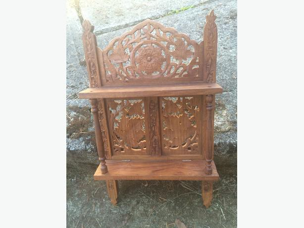 Wooden carved shelf