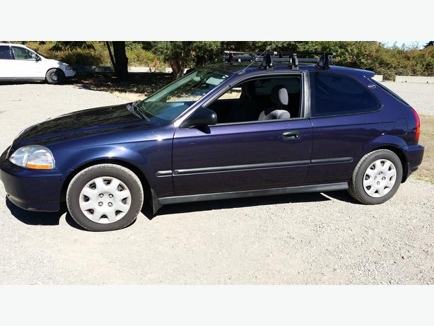 PURPLE 1998 HONDA CIVIC DX 2DOOR HATCH 5-SPD ORIGINAL 155,000KMS