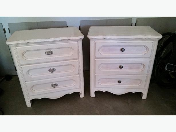 Two bedside tables or small dressors