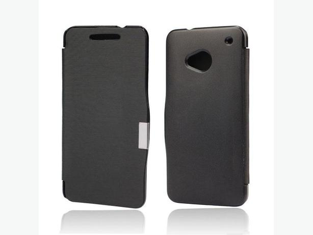 Magnetic Drawing Stripe Leather Flip Full Case For HTC One M7