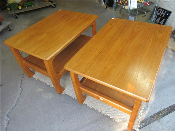 MATCHING TEAK END TABLES FROM ESTATE