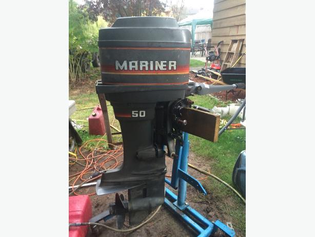 83 Mariner 50hp 2 Stroke Longshaft Tiller