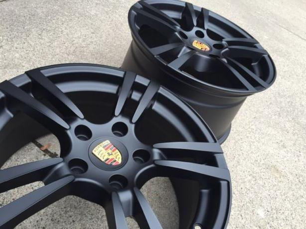 "NEW 18""Porsche 911/Boxster/Cayman staggered reps (5x130) - BLACK"
