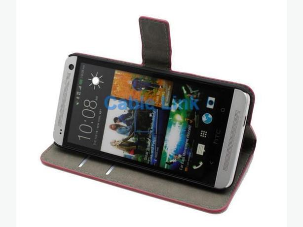 Flip Credit Card Pouch Wallet Leather Case For HTC ONE M7