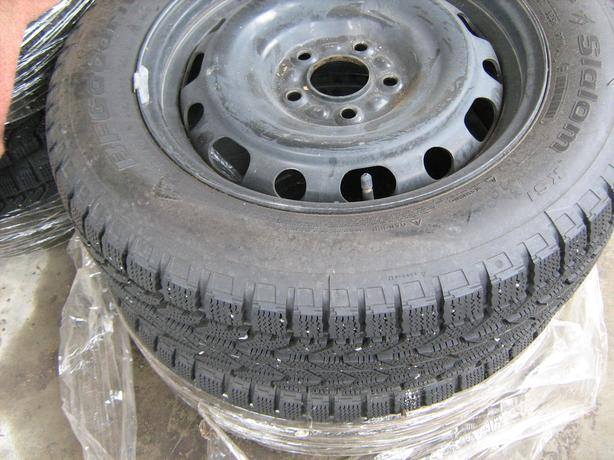 A set of 4 B F Goodrich tires and Rims