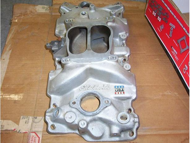 aluminum intake performer small block chevy