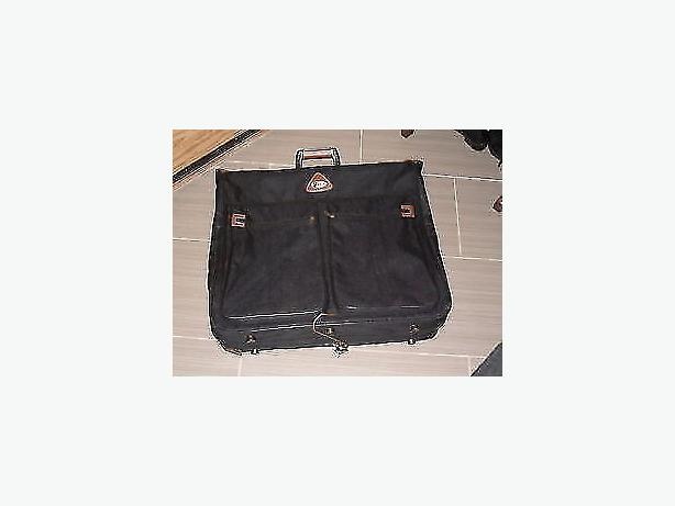 travel black carrier luggage bag canvas garment folding hanging