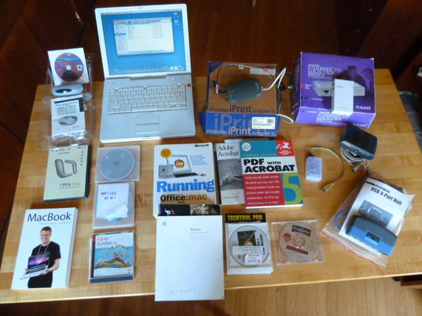 Mac Powerbook G4 + EVERTHING in photo - $100