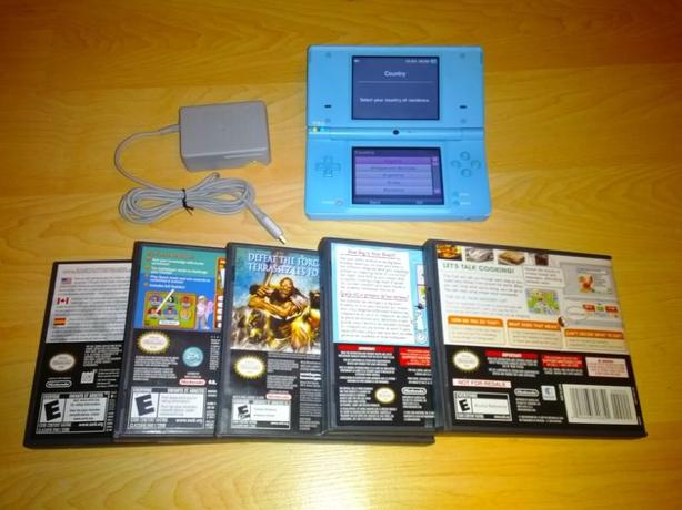 Teal Blue Nintendo DSi System With $30 Towards Games