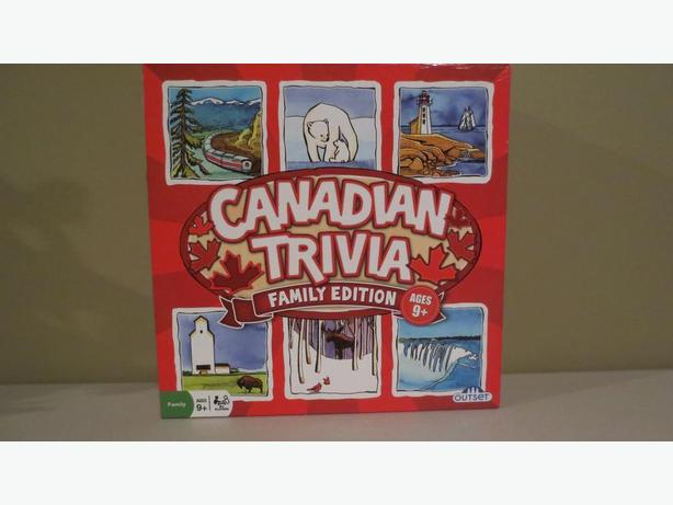 CANADIAN TRIVIA GAME (NEW)