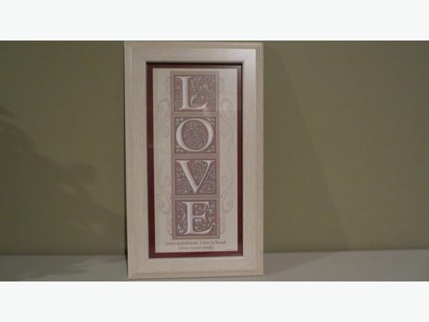 LOVE FRAMED WALL HANGING (NEW)