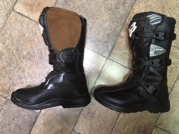 Fox moto cross boots, youth size 4 (EU36)