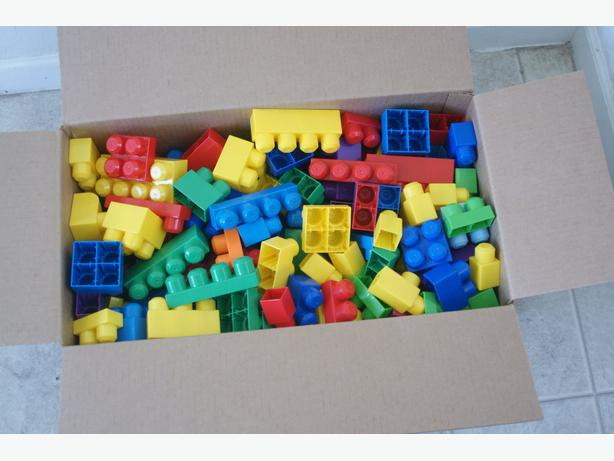 Box of MegaBloks Blocks