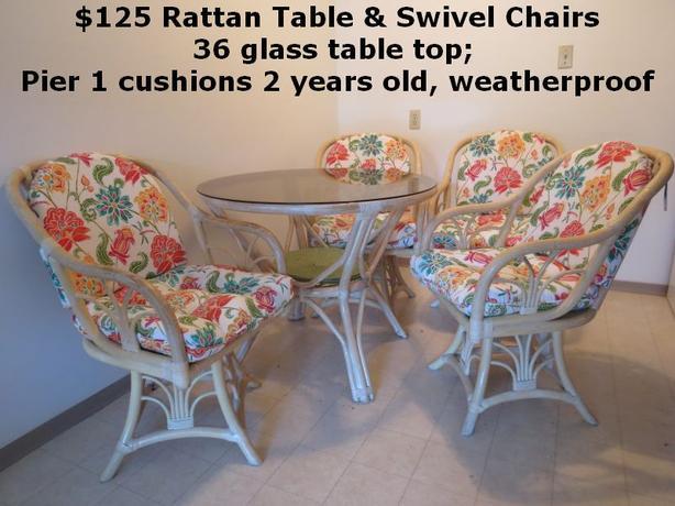 Rattan 5 pc Kitchen Set
