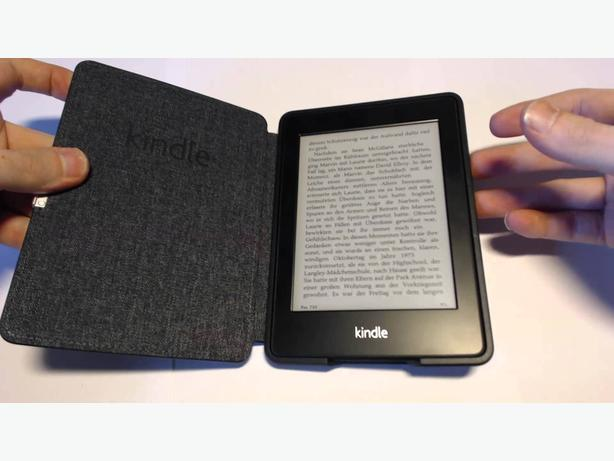 OBO Kindle Paperwhite Black Leather Case