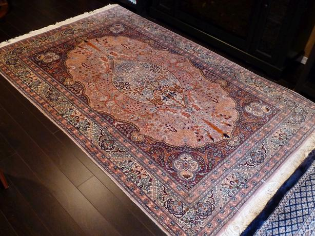 Two exceptional hand knotted rugs