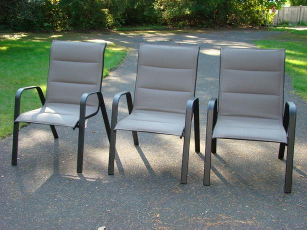 Three Oversized Padded Sling Chairs $60 each