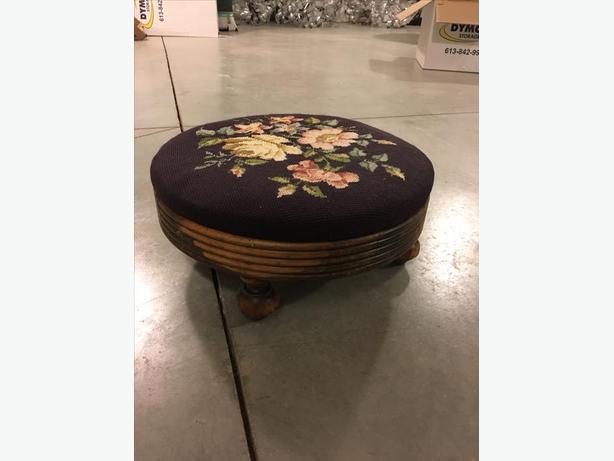 Vintage Round Footstool