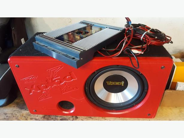 Sony Xplod Subwoofer and Amp