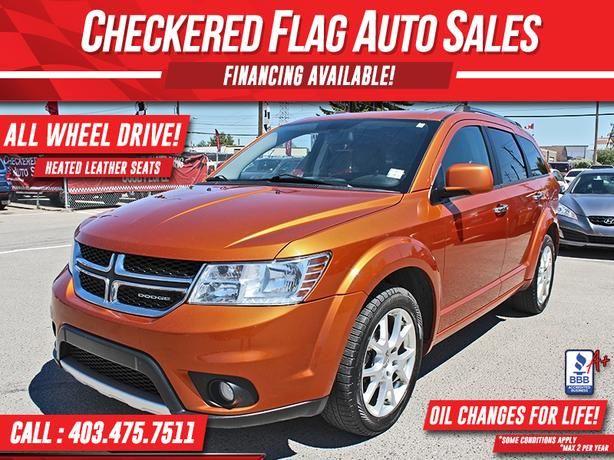 2011 DODGE JOURNEY R/T AWD-HEATED LEATHER SEATS-ALLOY WHEELS