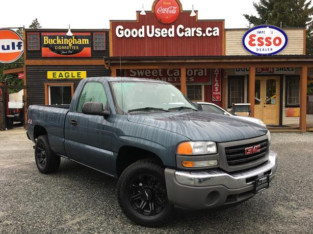 2006 GMC Sierra 4X4 - Rare V6 Single Cab Short Box!