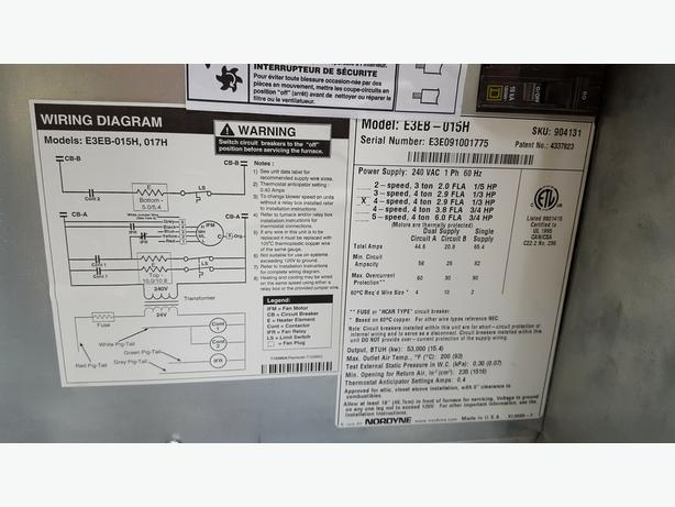 2009 Electric Furnace 15kw
