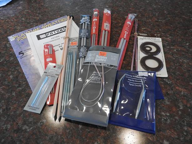 Knitting/Crocheting needles and supplies