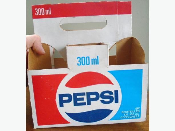 Vintage 1980's PEPSI Soda Pop Bottle Carrying Case - #5688