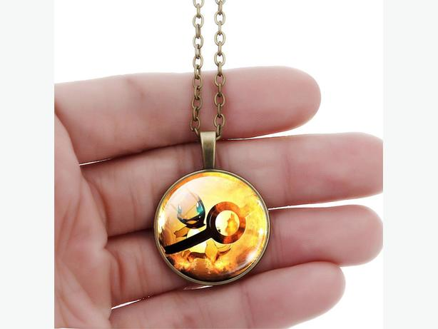Pokemon necklace and earrings