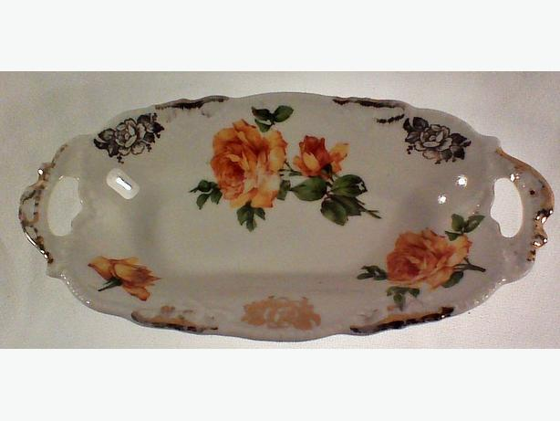 German roses porcelain dish