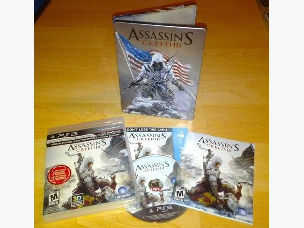 Assassin's Creed 3 With Metal Collectors Case For The PS3