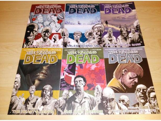 The Walking Dead Book Vol 1-6 - Robert Kirkman Graphic Novels