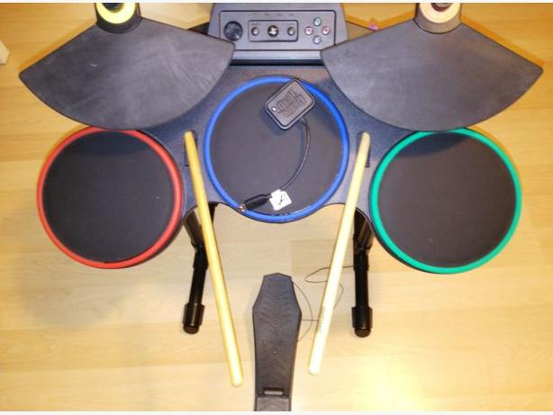 PS3 Rock Band Drum Set With Cymbals Complete With Dongle