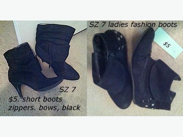 fashion boots, sz 7 ladies / teens