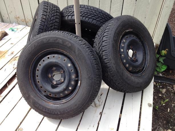 Ultragrip Winter Tires on Rims