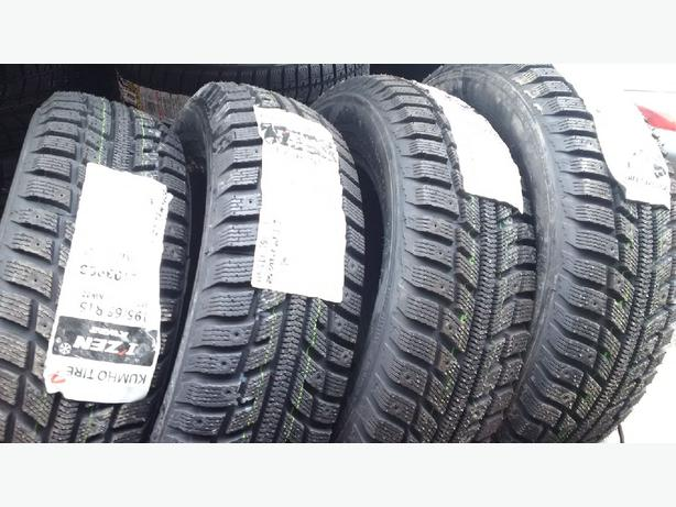 Four Brand New 195/65/R15 Kumho I'Zen KW-22 snow/winter tires