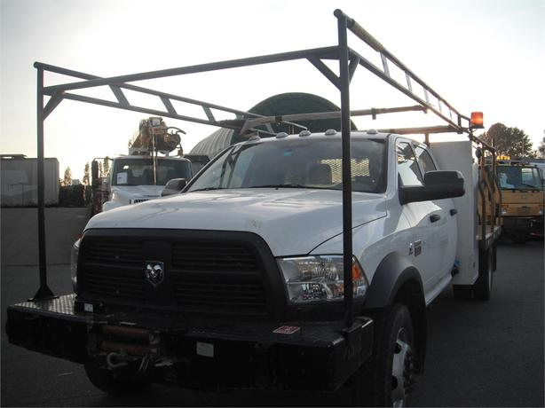 2012 Dodge Ram 5500 Crew Cab Flatdeck 4WD Diesel with Winch