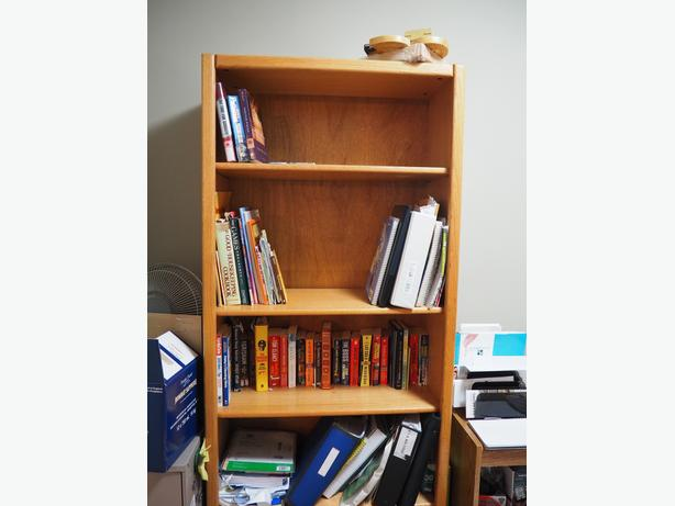 Oak Desk & Bookcase