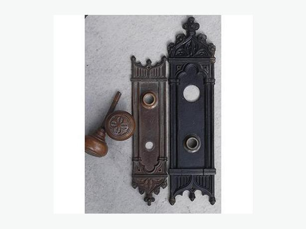 Victorian Gothic Door Knobs and Plates