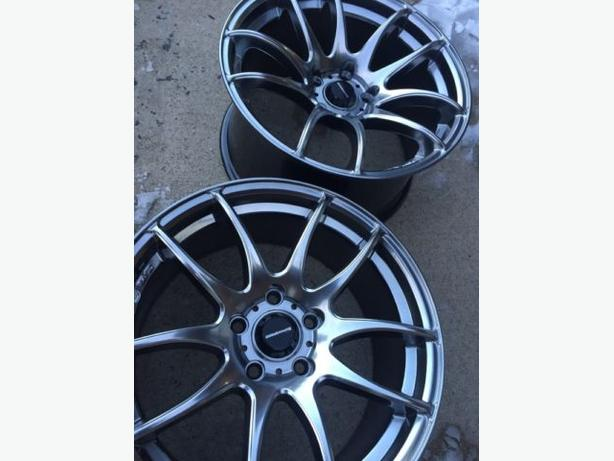 "NEW 17""x8"" & 17""x9"" Work Emotion reps (5x114) – HyperBlack"