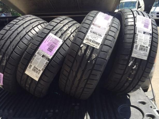 Four Brand New 195/50/R15 Dunlop Direzza DZ-102 performance tires