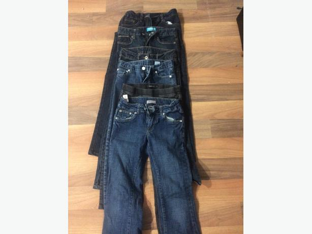 6 pairs of girls jeans size 10