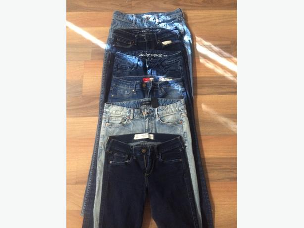 6 pairs of girls jeans size 0/00