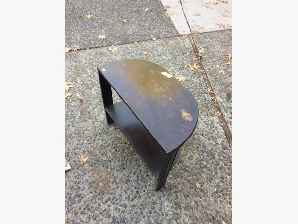 half moon table wood