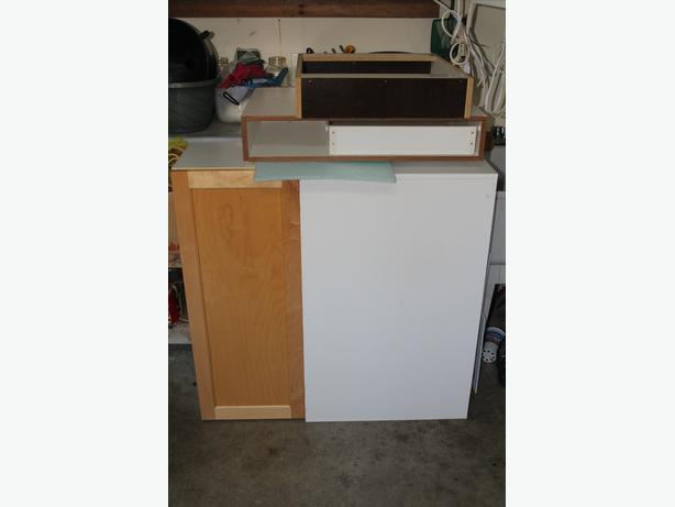 Cabinet box and door