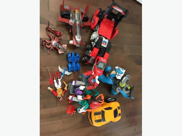 iron man, power ranger, switch & go & more